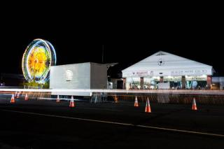 Firehouse Carnival at Night with Ferris Wheel