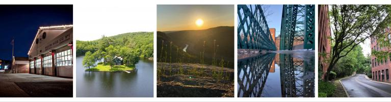 several pictures of Beacon Falls - as composite